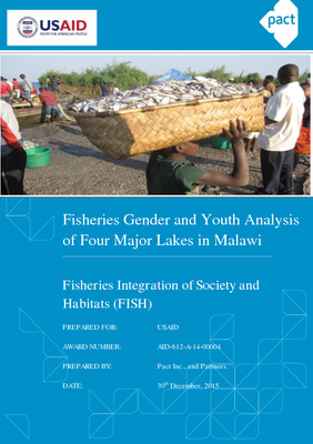 Fisheries Gender and Youth Analysis of Four Major Lakes in Malawi