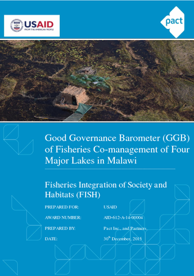 Good Governance Barometer of Fisheries Co-management of Four Major Lakes in Malawi