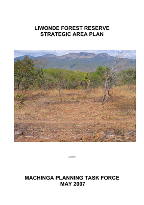 Liwonde Forest Reserve Strategic Area Plan