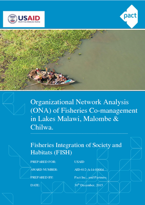 Organizational Network Analysis of Fisheries Co-management in Lakes Malawi, Malombe & Chilwa