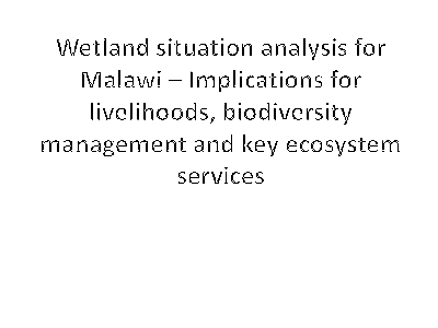 Wetland situation analysis for Malawi.pdf