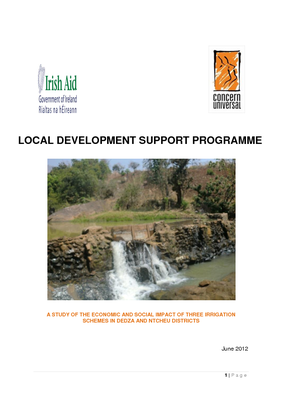 A Study of the Economic and Social Impact of Three Irrigation Schemes in Dedza and Ntcheu Districts