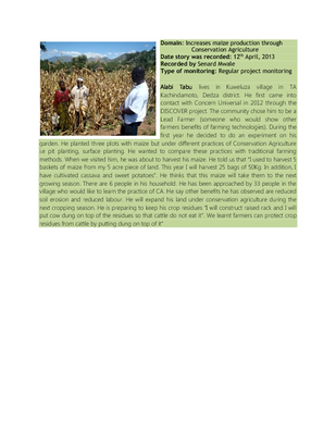 Case Study on Conservation Agriculture in Dedza
