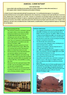 Charcoal Factsheet
