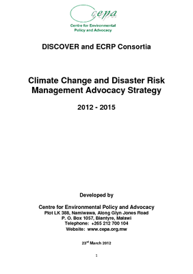 ECRP DISCOVER Advocacy Strategy