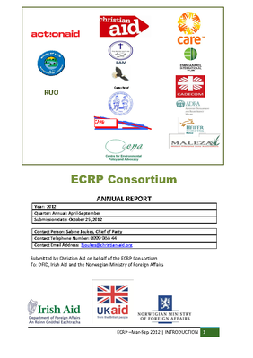 ECRP March - September Annual Report 2012