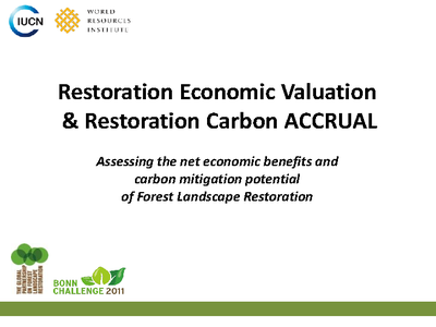 Economic Valuation and Restoration Carbon Accrual