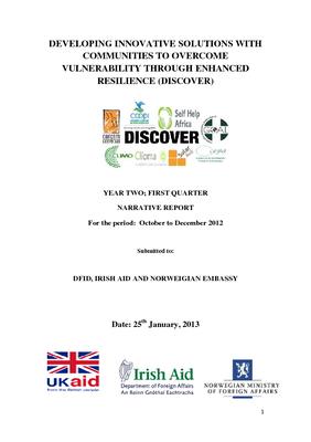 PMU DISCOVER Narrative Report- Year 2 Quarter 1