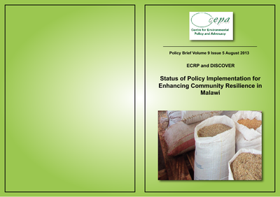 Policy Brief on the Status of Policy Implementation for Enhancing Community Resilience in Malawi 2013