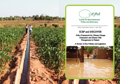Policy Framework for Climate Change Adaptation and Disaster Risk Management in Malawi- A Review of Key Policies and Legislation