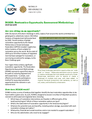 Restoration Opportunity Assessment Methodology Briefing Note