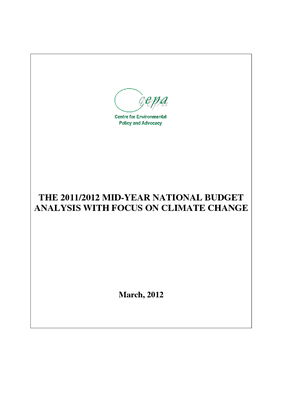 The 2011-2012 Mid-Year National Budget Analysis with Focus on Climate Change