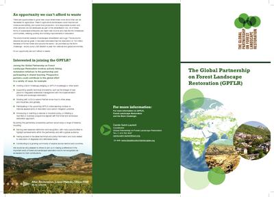 The Global Partnership on Forest Landscape Restoration