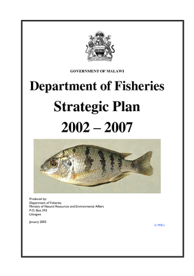 Department of Fisheries Strategic Plan 2002- 2007