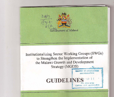 Institutionalizing Sector Working Groups to Strengthen the Implementation of the Malawi Growth and Development Strategy