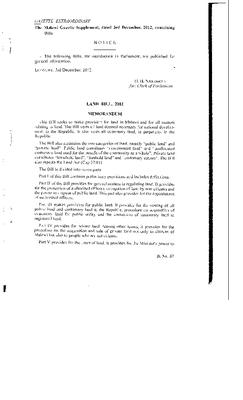 Land Bill 2012