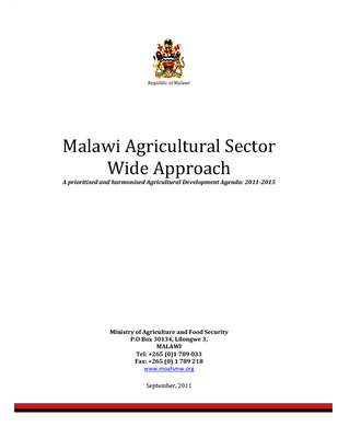 Malawi Agricultural Sector Wide Approach
