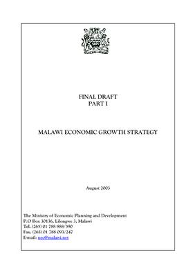 Malawi Economic Growth Strategy 2003
