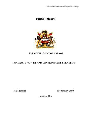 Malawi Growth and Development Strategy Volume One