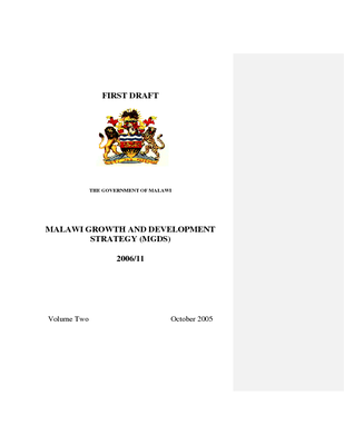Malawi Growth and Development Strategy Volume Two