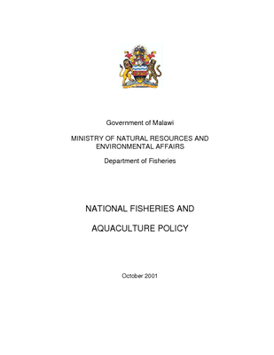 National Fisheries and Aquaculture Policy 2001