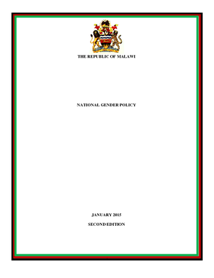 National Gender Policy 2015