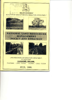 National Land Resources Management Policy and Strategy 2000