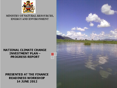 Progress Report on National Climate Change Investment Plan Development