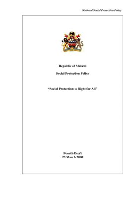 Social Protection Policy 2008