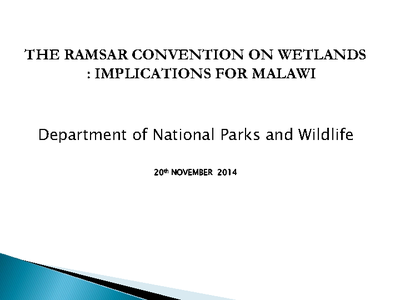 The Ramsar Convention on Wetlands- Implications for Malawi