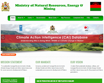 Government of Malawi Ministry of Natural Resources, Energy and Environment