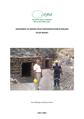 Assessment of Mining Policy Implementation in Malawi