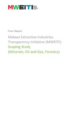Malawi Extractive Industries Transparency Initiative (MWEITI) Scoping Study