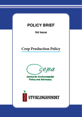 Policy Brief on Crop Production Policy