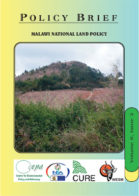 Policy Brief on Malawi National Land Policy
