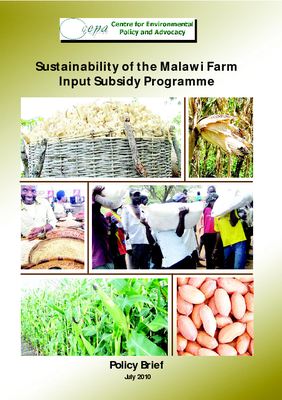 Sustainability of the Malawi Farm Input Subsidy Programme