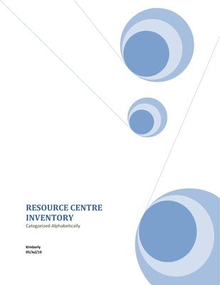 CEPA Resource Center Inventory